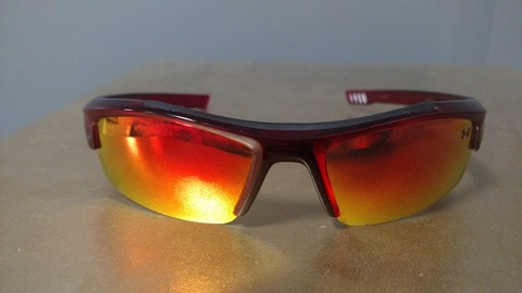 Red youth under armor nitro sunglasses